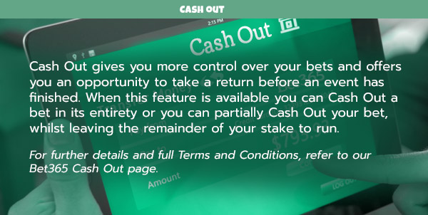 bet365 cash out option