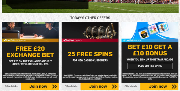 Betfair deposit methods