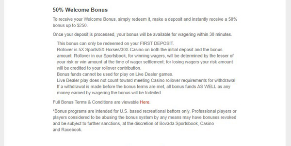bovada welcome bonus