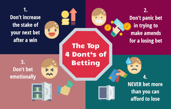 The Top 4 Dont's of Betting